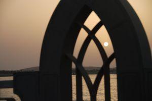 coucher de soleil sur la corniche